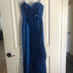 Beautiful royal blue cocktail dress.